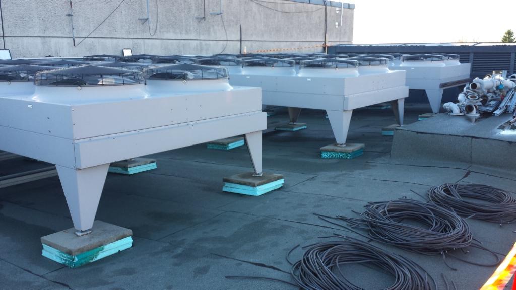 Bytte kjøler på tak - Oslo